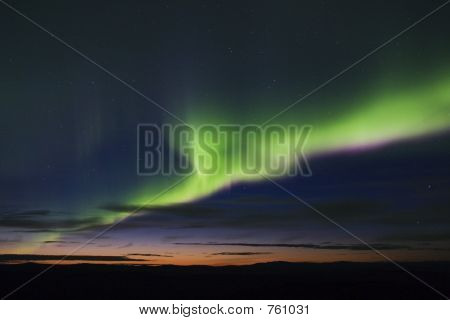 Colorful Aurora Display