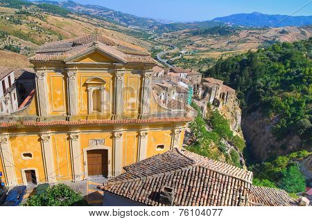 Mother Church of Oriolo. Calabria. Italy.
