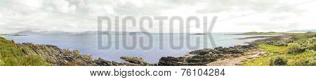 Panoramic view of the coast of, Argyll and Bute, Kintyre, Scotland