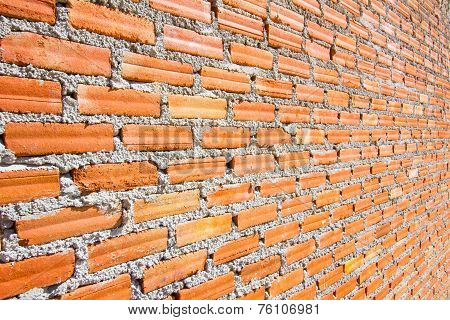 Brick Wall With Diminishing Perspective
