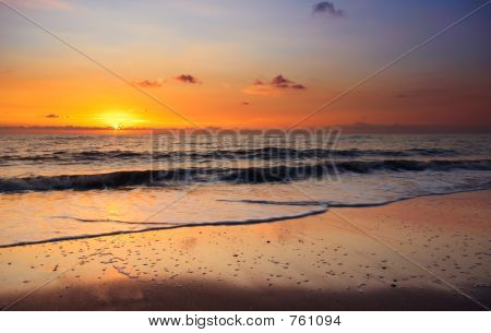 Beach And Sunset