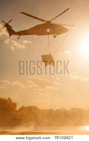Blackhawk Helicopter Carrying Humvee