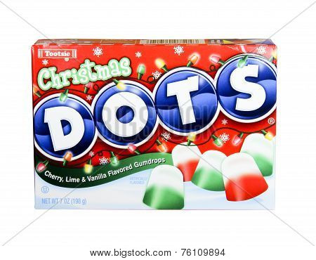 Box Of Tootsie Christmas Dots
