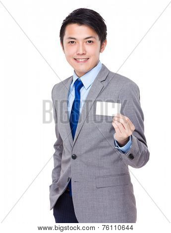 Businessman show with namecard