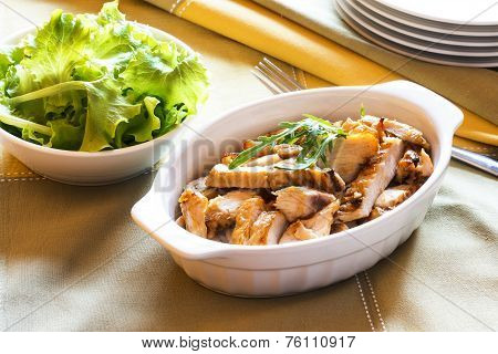 Roasted Chicken And Green Salad