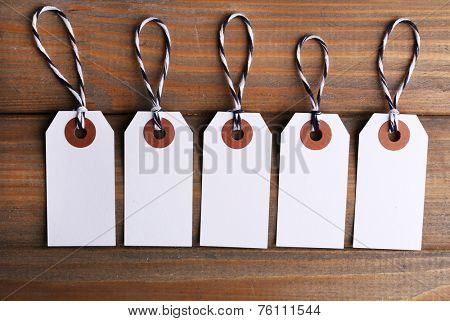Tallies on wooden background