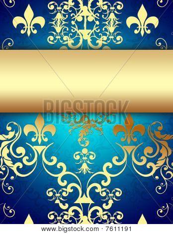Elegant Golden Blue Background