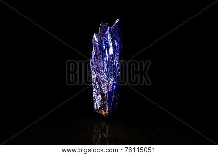 Small Blue Azurite In Front Of Black