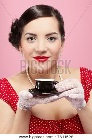 Girl With Tea Cup