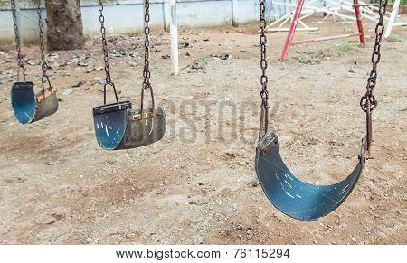 Chain Swing In Children Playground