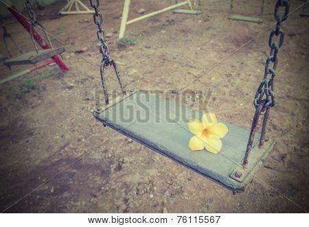 Retro Style Empty Chain Swing.