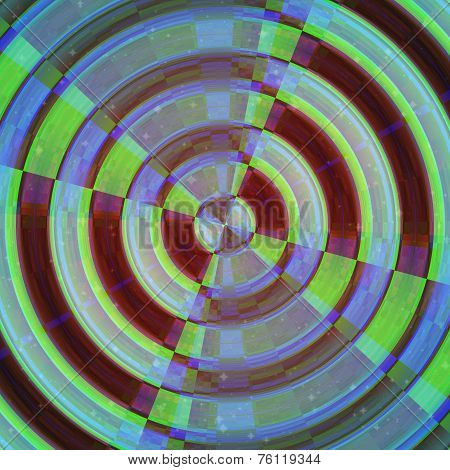 Rounded Shape Image. Abstract Target