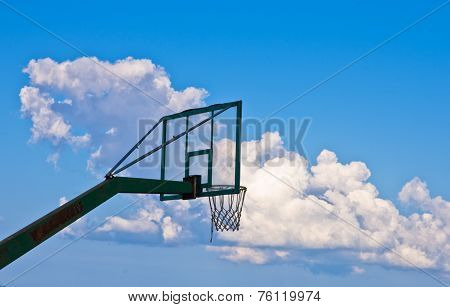 Sky is the limit in basketball game