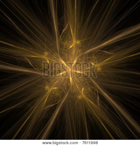 Abstract yellow five-pointed star