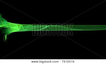 Abstract green sinusoidal wave