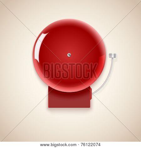 Red school bell.