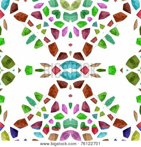Abstract tileable decorative kaleidoscope sidebar