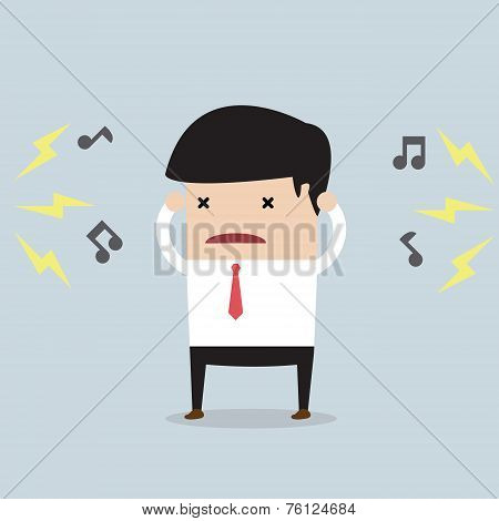 Businessman With Noise