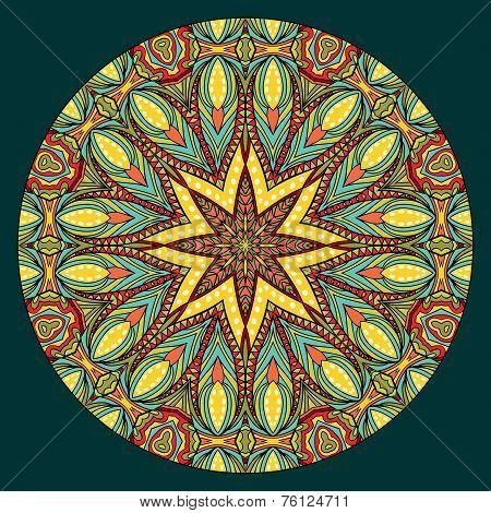Oriental Style Symmetric Pattern
