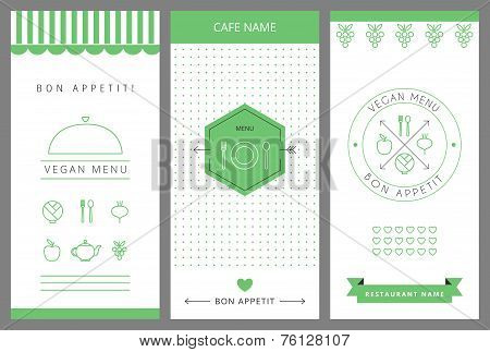 Restaurant Vegetarian Menu card design template.