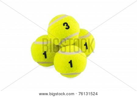 Pyramid Of The Four Tennis Balls