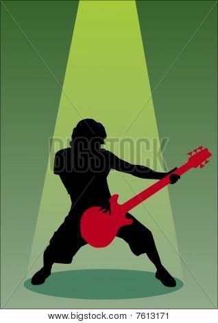 Bassist silhouette
