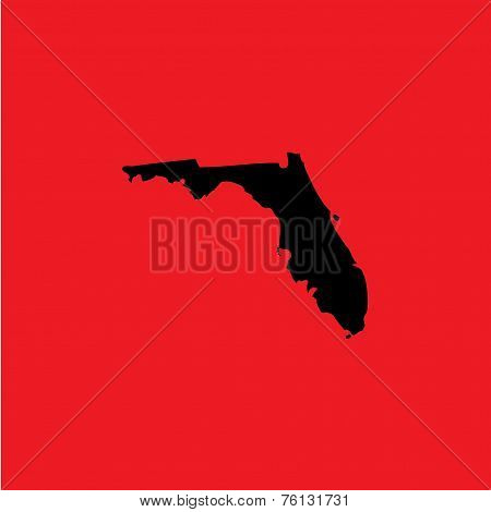 Coloured Background With The Shape Of The United States State Of Florida