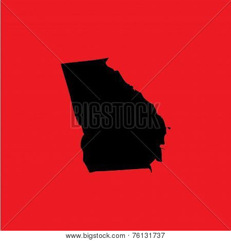 Coloured Background With The Shape Of The United States State Of Georgia