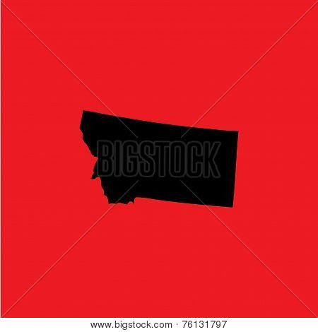 Coloured Background With The Shape Of The United States State Of Montana
