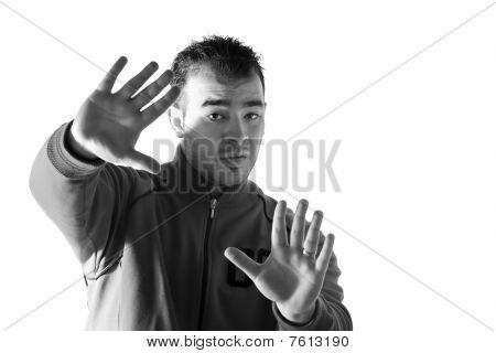 Man Refusing Something