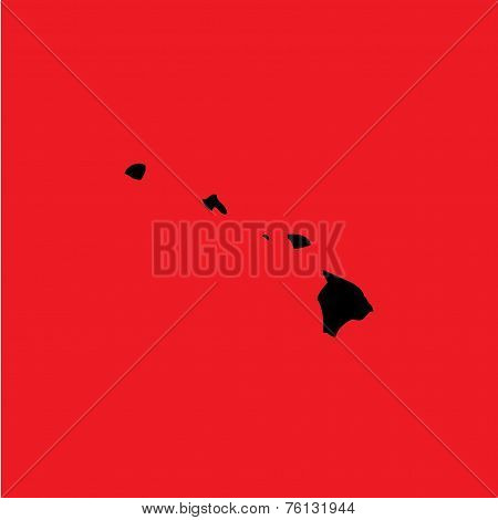 Coloured Background With The Shape Of The United States State Of Hawaii