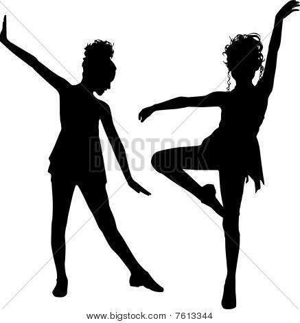 Joy dancing children