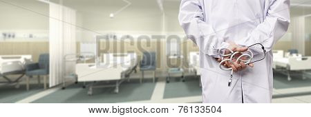 Doctor In Hospital Ward
