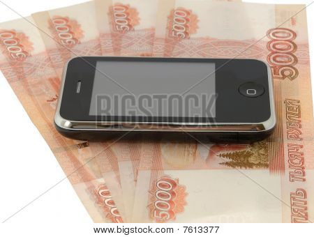 Phone And 5 Tousen Bancknotes