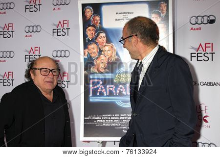 LOS ANGELES - NOV 10:  Danny DeVito, Giuseppe Tornatore at the