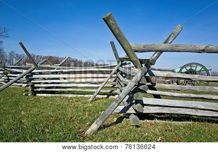 Civil War Battlefield Fences