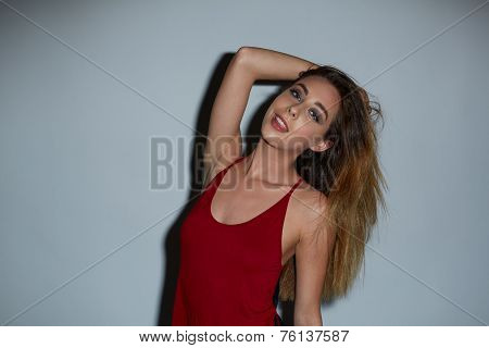 Attractive Young Woman With Long Blond Hair
