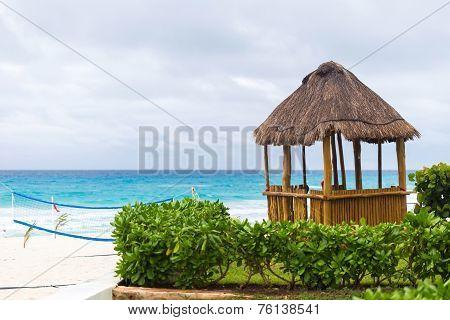 Lifeguard Pergola On Caribbean Beach