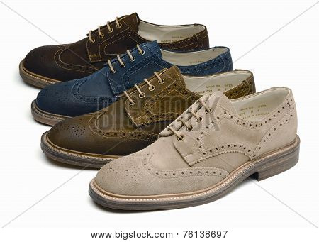 suede men's shoes of different colors