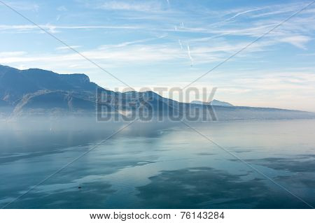 View On Mountains In Switzerland