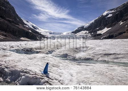 Glacial Meltwater On Columbia Ice Cap