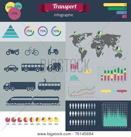 City Transport Infographics Set.