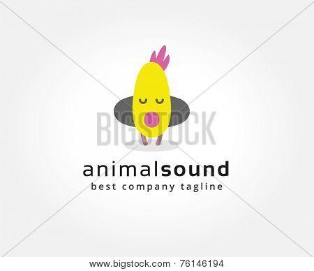 Abstract chuck with headphones vector logo icon concept