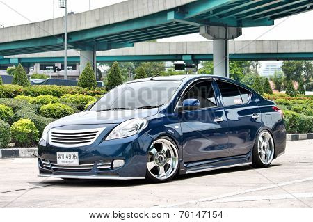 Blue ECO Car Sedan in VIP Style
