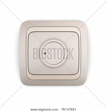 Electric Controller Isolated On White Background
