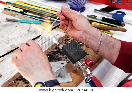 Hands of the handicraftsman