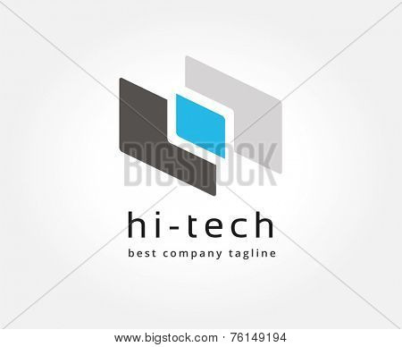 Abstract colored vector logo icon concept. Logotype template for branding and corporate design