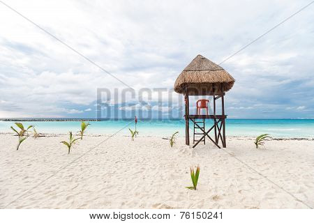 Lifeguard Tower On  Beach