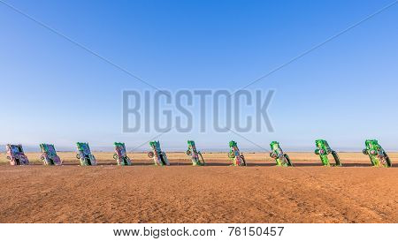 Route 66: Cadillac Ranch, Amarillo, TX