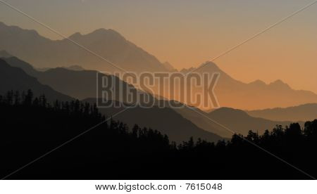 sunrise of annapurna ranges, Nepal